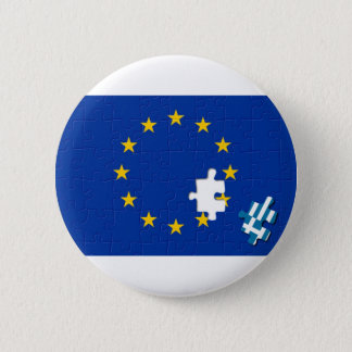 Greece leaves European Union 6 Cm Round Badge