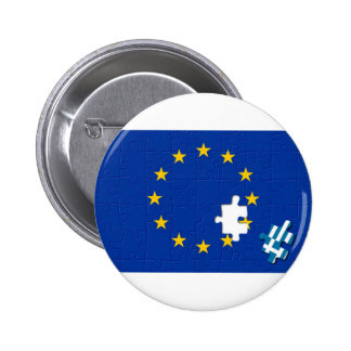Greece leaves European Union 6 Cm Round Badge