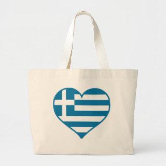 Greece Love Large Tote Bag