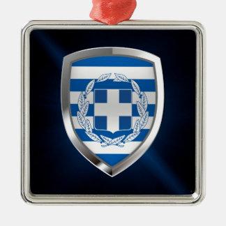 Greece Metallic Emblem Metal Ornament