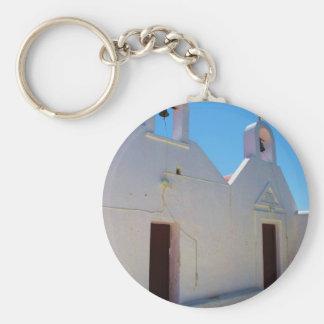 Greece - Mykonos Basic Round Button Key Ring