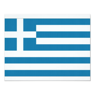 Greece National Flag 11 Cm X 14 Cm Invitation Card