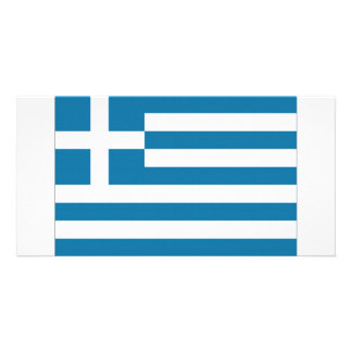 Greece National Flag Photo Card Template