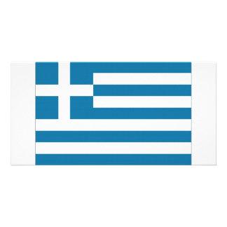 Greece National Flag Customized Photo Card