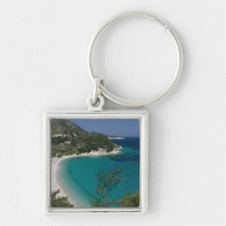 GREECE, Northeastern Aegean Islands, SAMOS, 7 Silver-Colored Square Key Ring