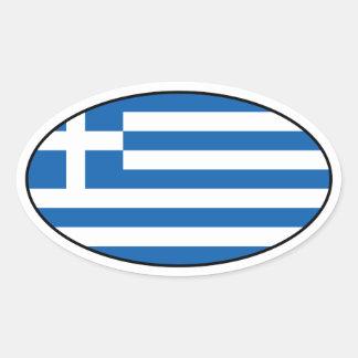 Greece Oval Flag Sticker