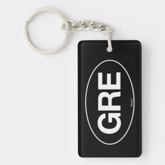 Greece Oval Single-Sided Rectangular Acrylic Key Ring