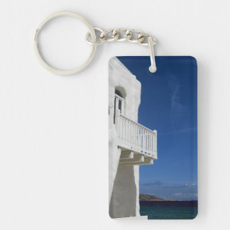 Greece Paros Single-Sided Rectangular Acrylic Key Ring