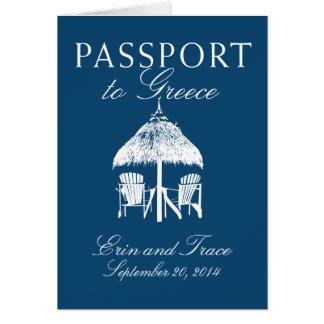 Greece Passport Wedding Invitation Greeting Card