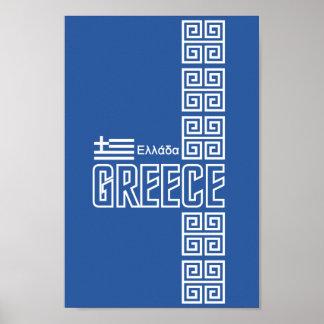 GREECE poster, customizable Poster