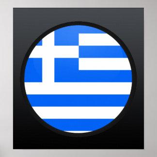 Greece quality Flag Circle Poster