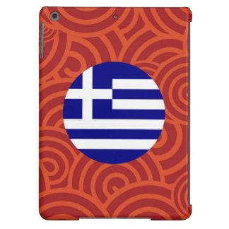 Greece round flag iPad air cover