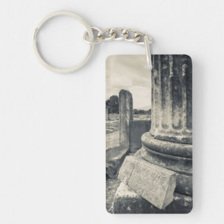 Greece, ruins of ancient city Double-Sided rectangular acrylic key ring