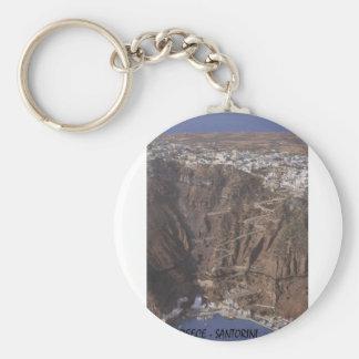 Greece Santorini (St.K) Basic Round Button Key Ring