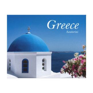 Greece Santorini Travel Canvas Print