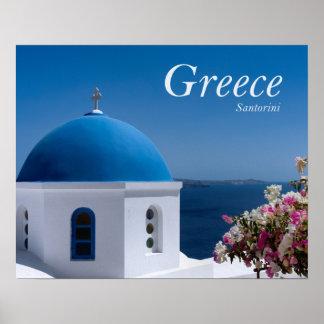 Greece Santorini Travel Poster