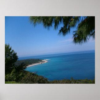 Greece Sedonia Peninsula Poster