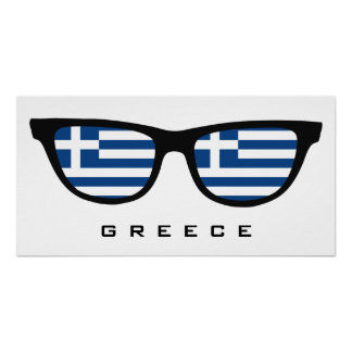 Greece Shades custom text & color poster