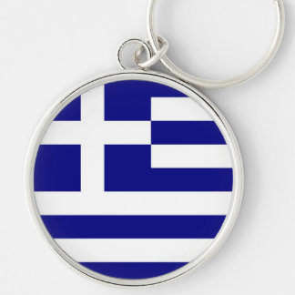 GREECE Silver-Colored ROUND KEY RING