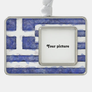 Greece Silver Plated Framed Ornament