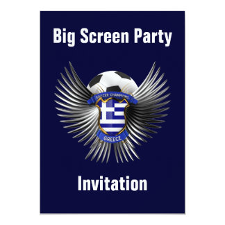 Greece Soccer Champions Invitations