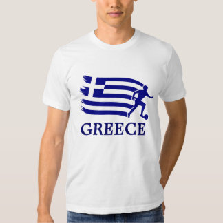 Greece  Soccer Flag Tee Shirt