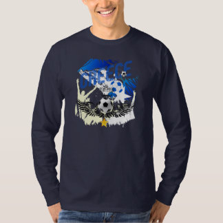 Greece Soccer Grunge Artwork Gifts T-Shirt