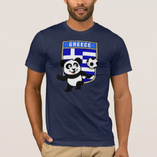 Greece Soccer Panda (dark shirts) T-Shirt