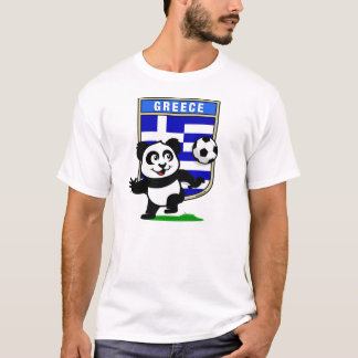 Greece Soccer Panda (light shirts) T-Shirt