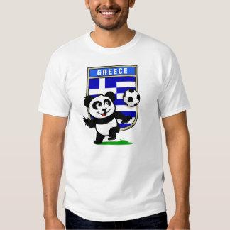 Greece Soccer Panda (light shirts) Tee Shirt