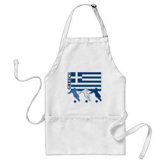 Greece - Soccer Players Standard Apron