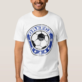 Greece Soccer T-Shirts (distressed)
