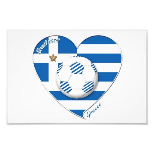 """GREECE"" soccer team. Greece soccer 2014 Football Photo Art"