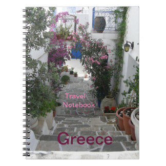 Greece Travel Destination Notebook