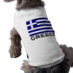 Greece Vintage Flag Dog Clothing