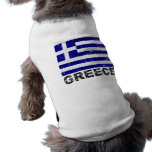 Greece Vintage Flag Sleeveless Dog Shirt