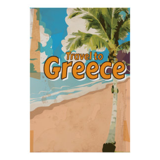 Greece Vintage vacation Poster