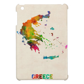 Greece Watercolor Map Cover For The iPad Mini
