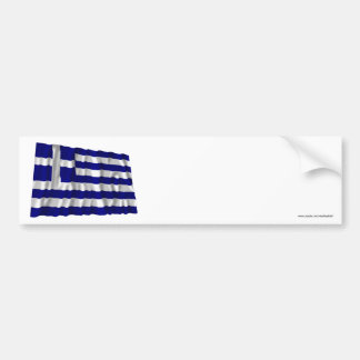 Greece Waving Flag Bumper Stickers