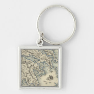 Greece with inset maps of Corfu and Stampalia Keychains