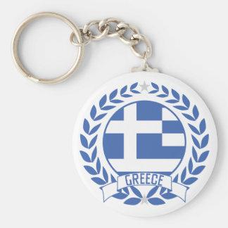Greece Wreath Basic Round Button Key Ring