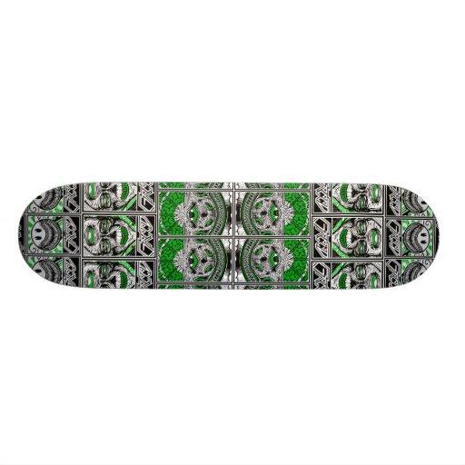Greed Sticker Collage Skate Decks