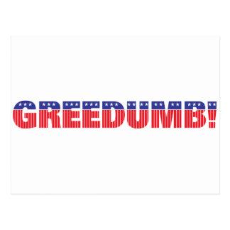 Greedumb Postcard