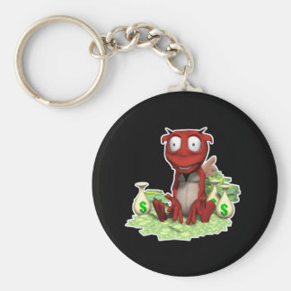 greedy devil basic round button key ring