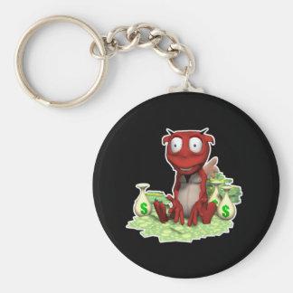 greedy devil basic round button key ring