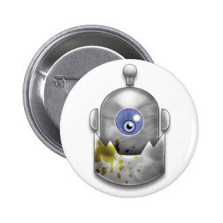Greedy Robot Logo 6 Cm Round Badge