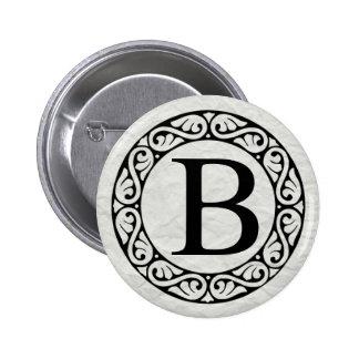 Greek Alphabet Letter Beta 6 Cm Round Badge