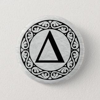 Greek Alphabet Letter Delta 6 Cm Round Badge