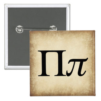 Greek Alphabet Letter Pi 15 Cm Square Badge