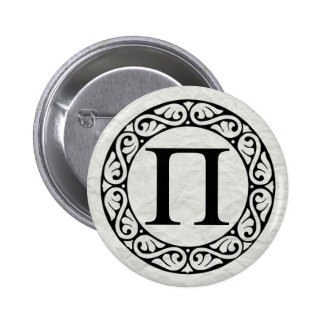 Greek Alphabet Letter Pi 6 Cm Round Badge